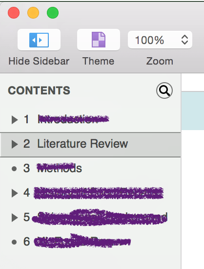 omnioutliner literature review
